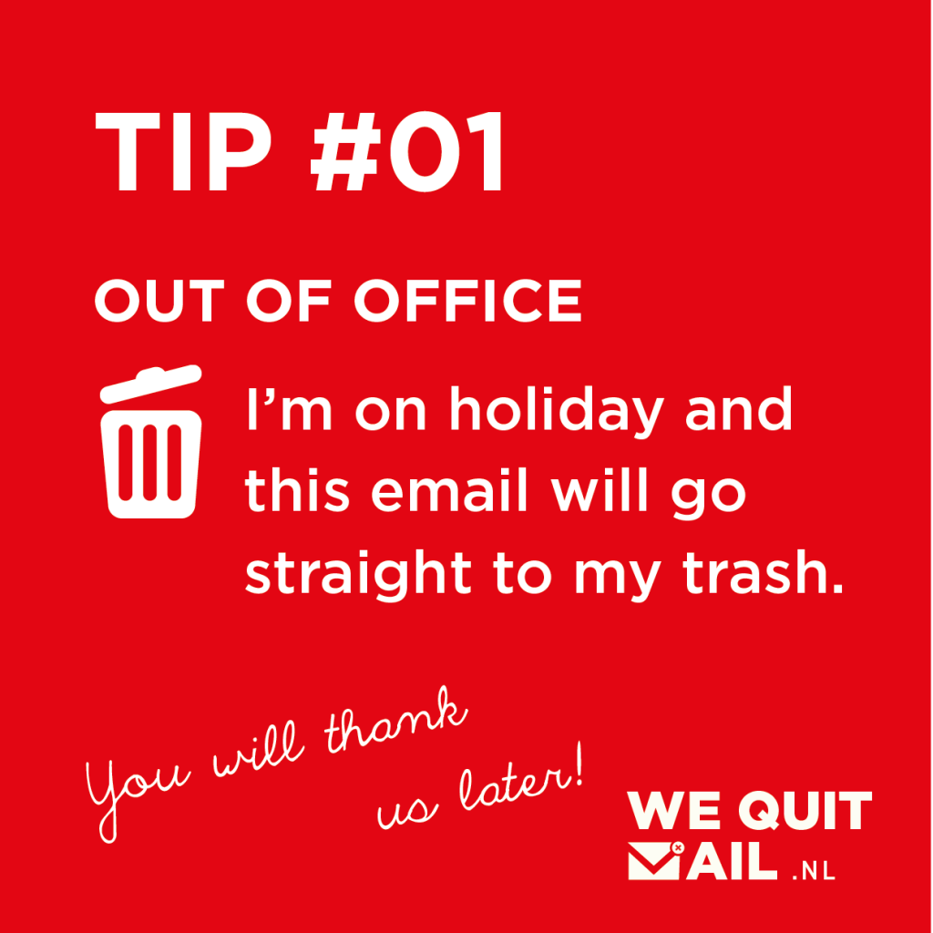 Out of office e-mail