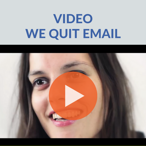 minder e-mail video we quit email